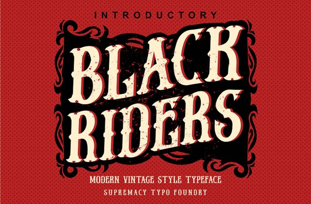 Black Riders Font