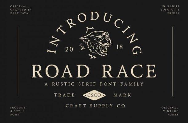 Road Race Typeface