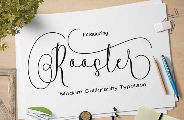 Rooster Script Font