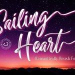 Sailing Heart Brush Font
