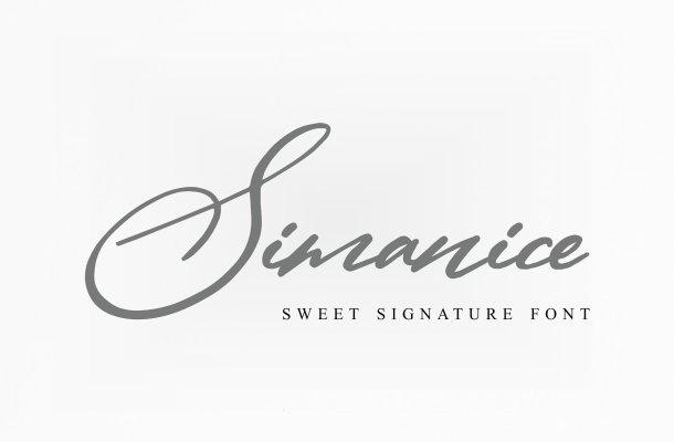 Simanice Signature Font