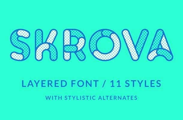 Skrova Layered Font