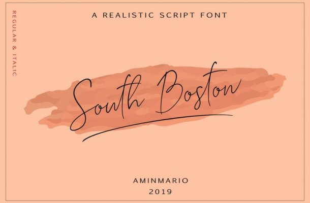 South Boston Script Font