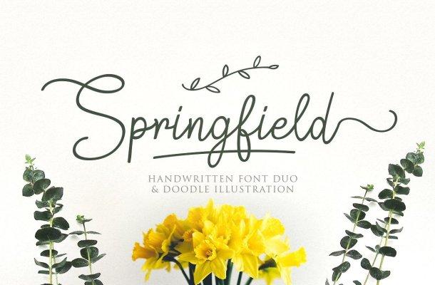 Springfield Handwritten Font