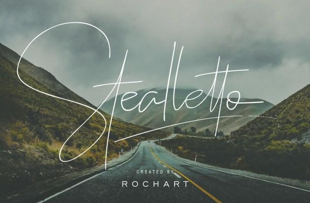 Stealletto Signature Font