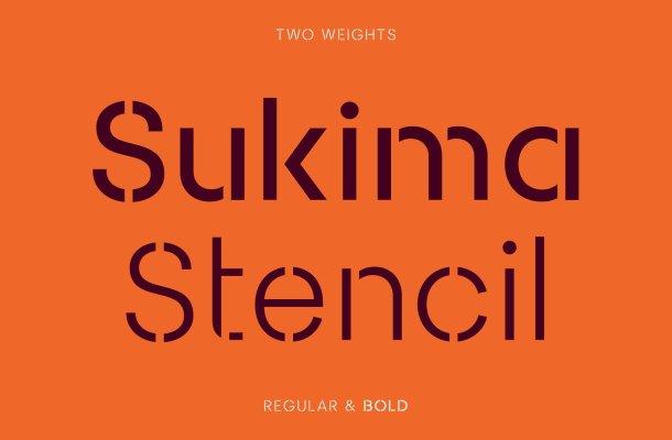 Sukima Stencil Font