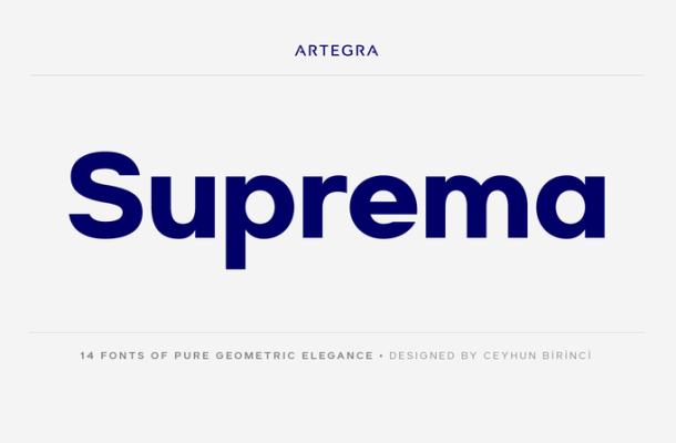 Suprema Font Family