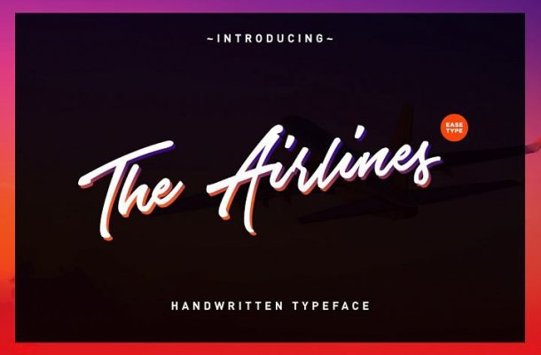 The Airlines Script Font