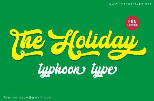 The Holiday Script Font