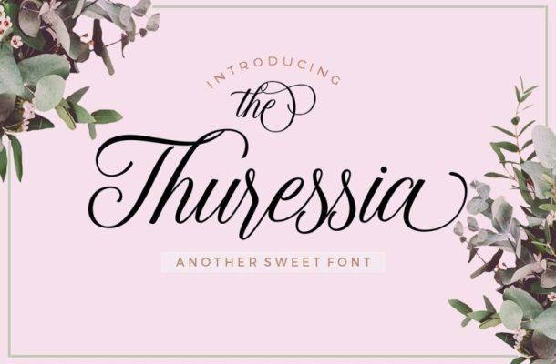 Thuressia Script Font