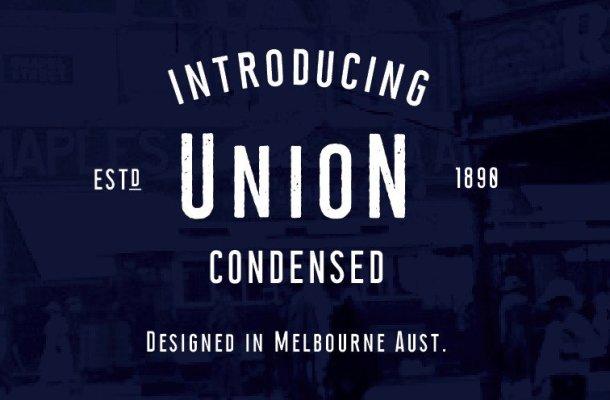 Union Condensed Typeface