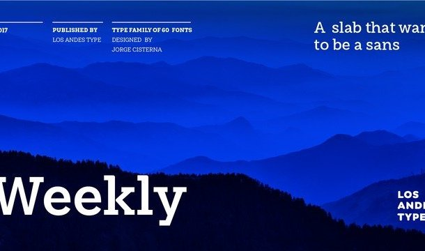 Weekly Font Family