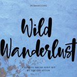 Wild Wanderlust Brush Font
