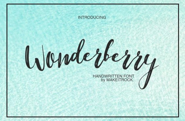 Wonderberry Brush Font