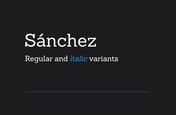 Sánchez Typeface