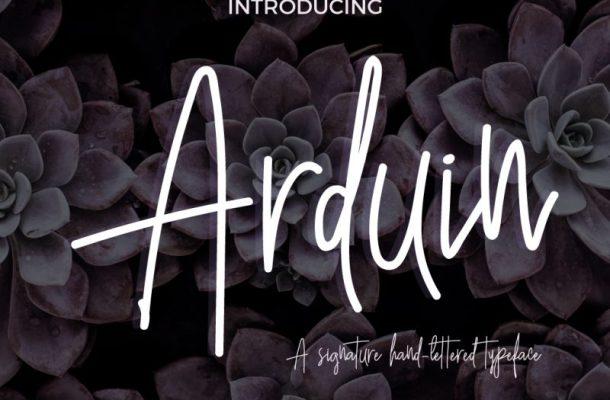 Arduin Script Font