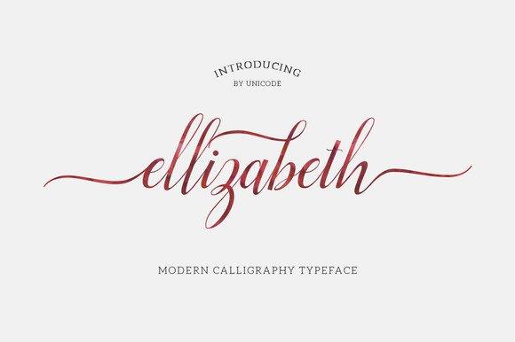 Ellizabeth Script Font