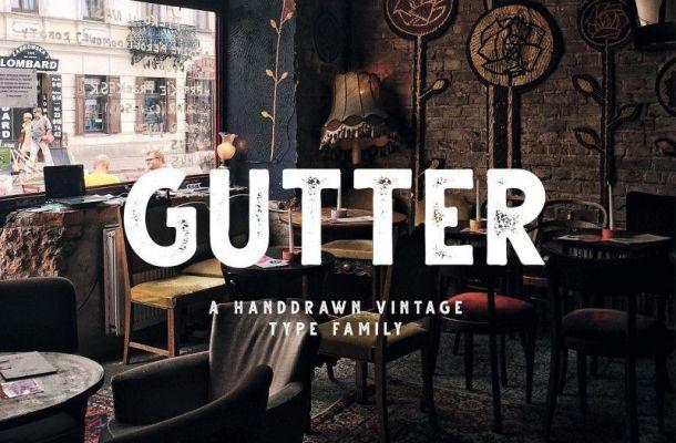 Gutter Handdrawn Sans Font Family