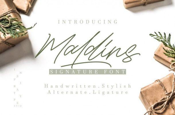 Maldins – Stylish Signature Font