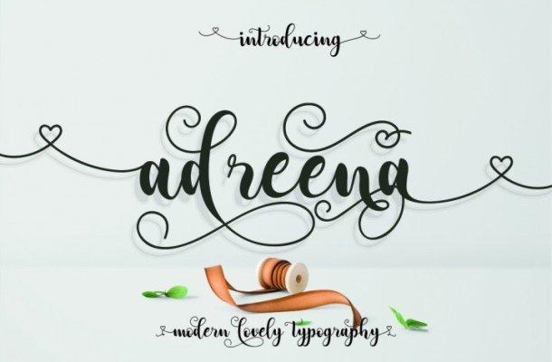 Adreena Script Font