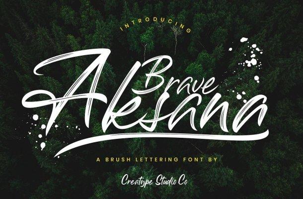 Aksana Brush Font