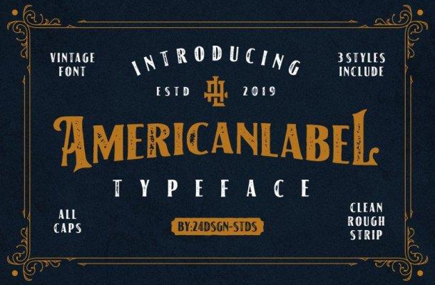 American Label Vintage Font
