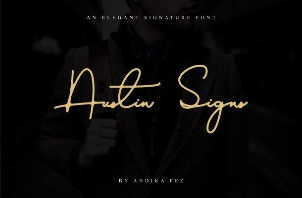 Austin Signs Font