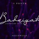 Badriyah Signature Font