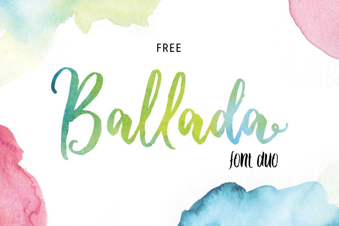 Ballada Brush Font - All Free Fonts
