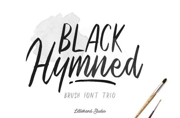 Black Hymned Script Font