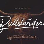 Bullstander Script Font