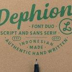 Dephion Script Font