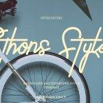 Ethons Styles Script Font