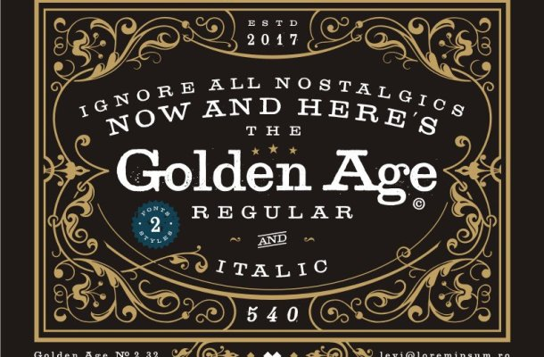 Golden Age Typeface