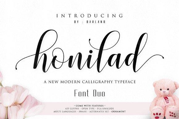 Honilad Script Font Duo