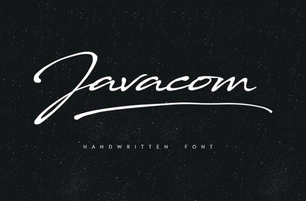 Javacom Script Font
