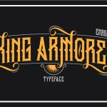 King Armored Typeface