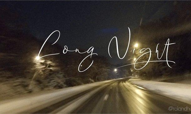 Long Night Signature Font