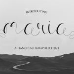 Maria Calligraphy Font