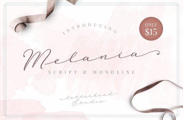 Melania Script Font