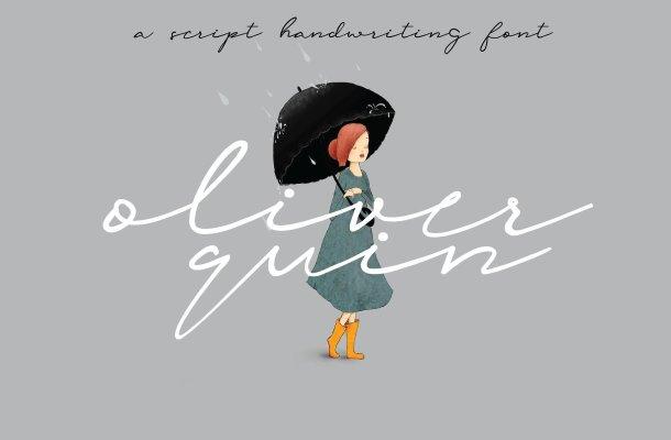 Oliver Quin Handwriting Font