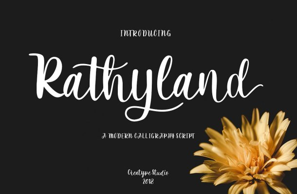 Rathyland Script Font