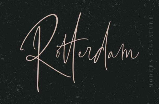 Rotterdam Signature Font
