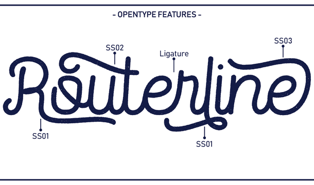 Routerline Rough Typeface