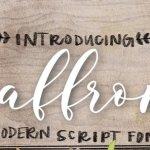 Saffron Script Font