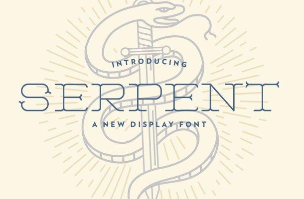 Serpent Display Font