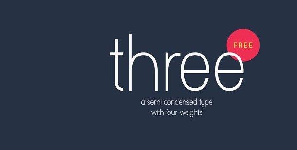 Three Font