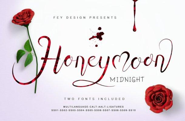 Honey Moon Midnight Font