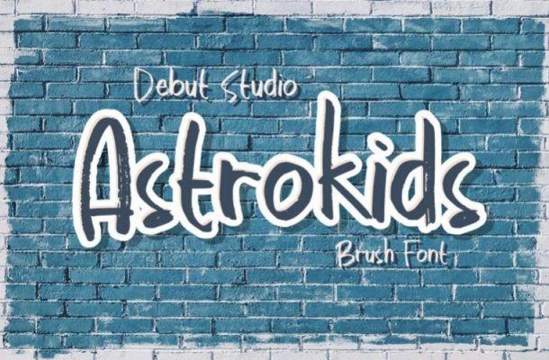 Astrokids Brush Font