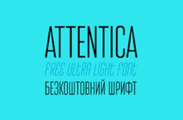 Attentica Ultra Light Font